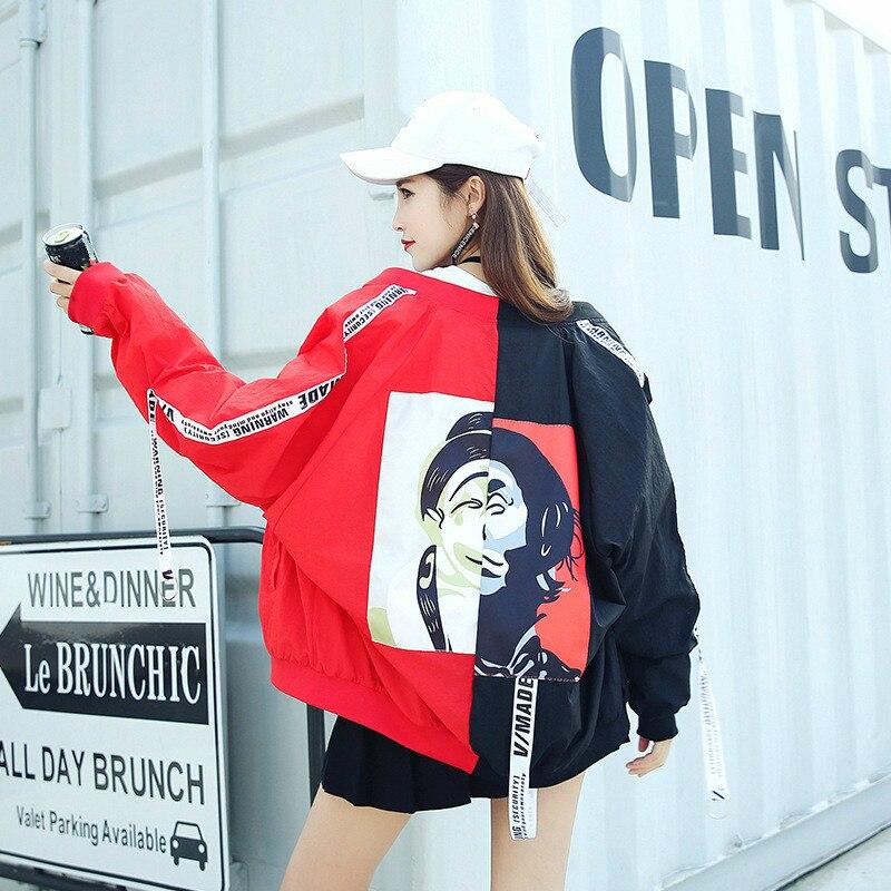 Basic Jackets Windbreaker Women Cardigan Long Female Jacket College Patchwork Color Ribbon Sun Protection Clothing Coat Summer