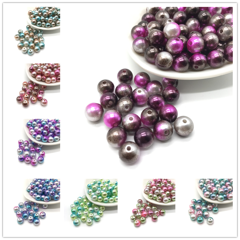 50pcs Spotty Coated Round Opaque Glass Loose Spacer Beads 6mm//8mm//10mm//12mm