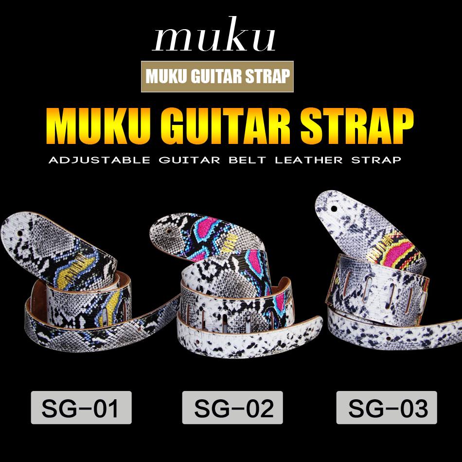 MUKU Electric Bass Guitar Straps / Thres Styles of Belts Straps for Your Choice / Bass Guitar Parts Accessories belcat bass pickup 5 string humbucker double coil pickup guitar parts accessories black