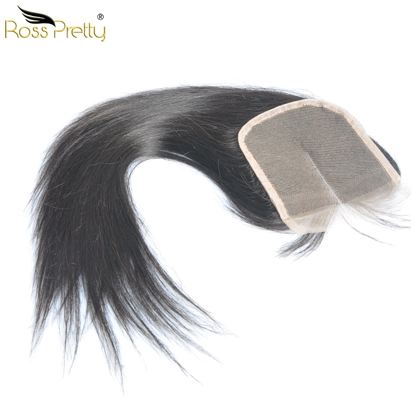 Pre Plucked Hair 4x4 Lace Closure Quality Brazilian Remy Hair Straight closure human hair Any Part available Ross Pretty Hair