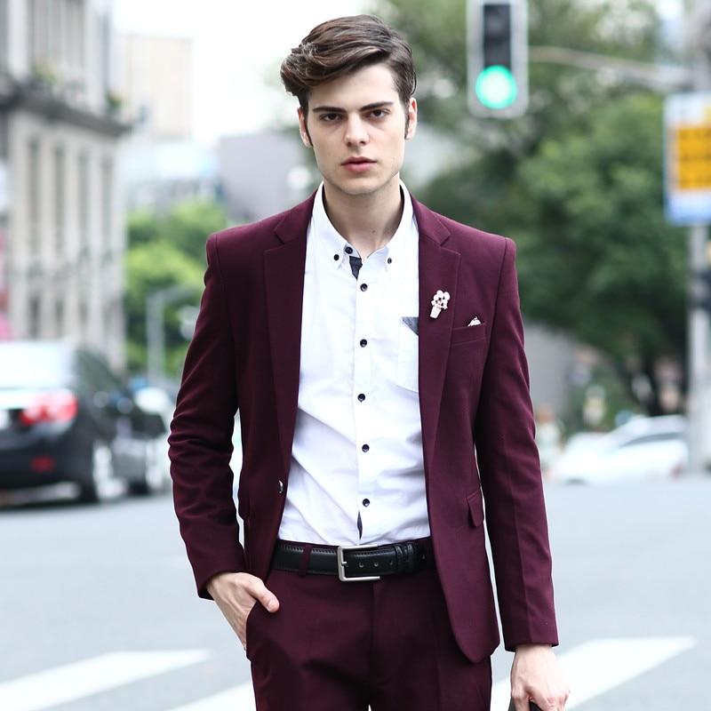Men Wedding Ideas: (Pants + Jacket) High Quality 2015 Mens Fashion Suits