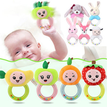 Baby Cute Plush Rattle Mobile Toys Cartoon Bear Bunny Educational Kids Newborn Rattles Toy 0-12 Months Rabbit Hand Bells N2