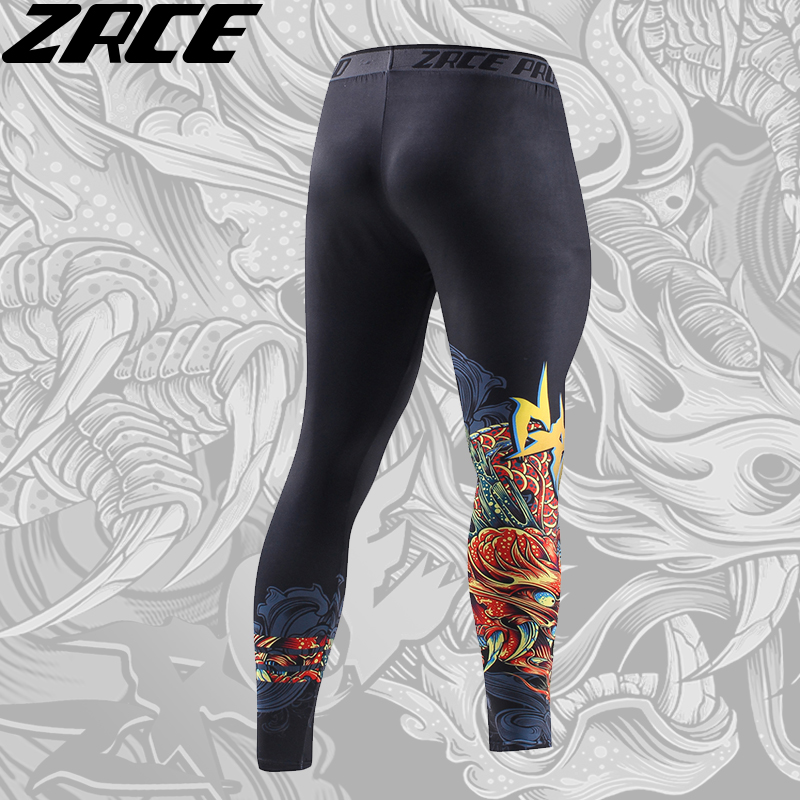 Compression Pants 3d Printed Chinese Dragon Pattern 1