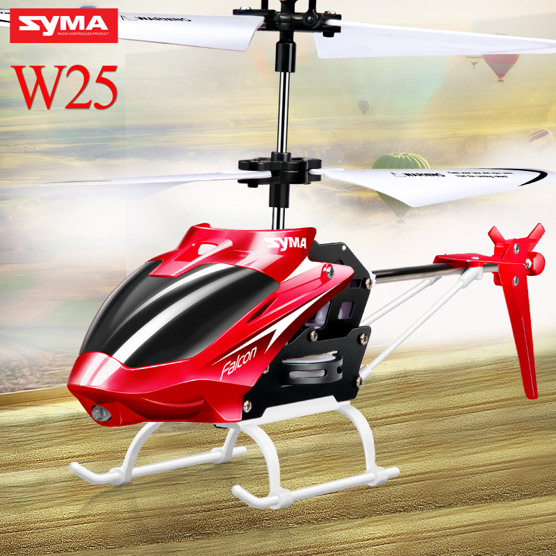 Original Syma W25 RC Helicopter Drone 2 Channel Indoor Remote Control Aircraft with Gyro Radio Control