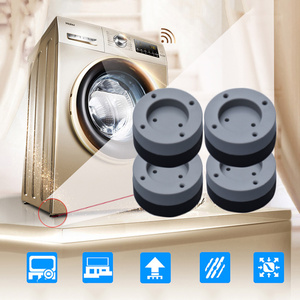 Image 3 - 4 Pcs Washing Machine Anti Shock Pad Refrigerator Large Appliances Furniture Mute Rubber Mat Anti Vibration Pads Protect Floor