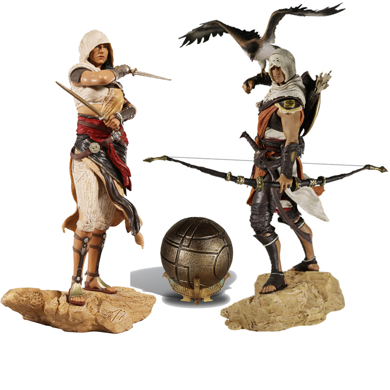 Assassin's Creed Bayek Aya Origins Action Toy Figures Pvc Model Collection For Girls Kids Lover Children Best Birthday Gift assassin s creed origins action figure bayek aya pvc 230mm anime assassin s creed origins figurine model toys