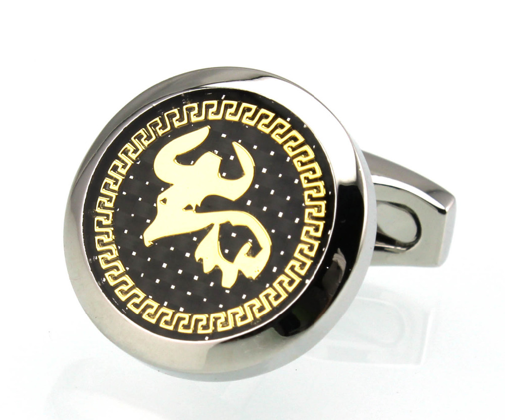 US $9 99 |Sunnylink Men's Cuff Links 12 Chinese Zodiac Signs Ox patient  Cufflinks for Born in 1961 1973 1985 1997 M3622-in Tie Clips & Cufflinks  from