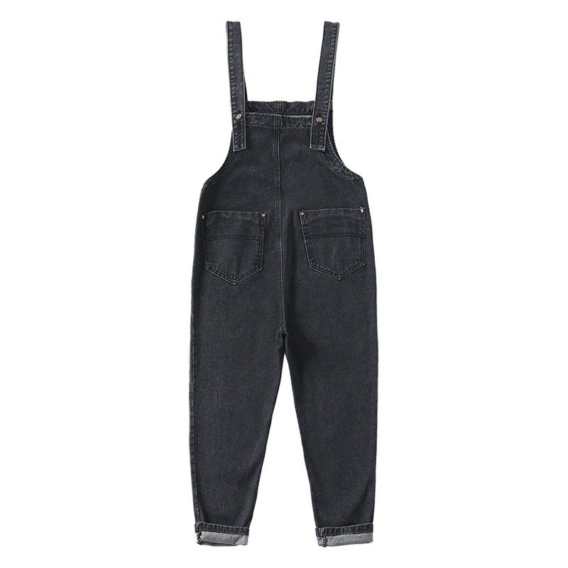 Women denim bib overalls fashion casual jumpsuits trousers work uniforms sleeveless cargo pants work coveralls denim bibs