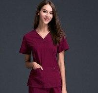 New Design Women S Medical Scrub Uniform Set Dental Hospital And Beauty Salon Working Clothes Slim