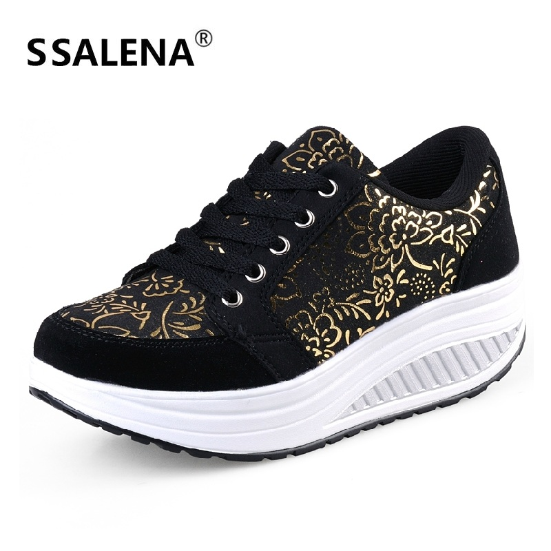 Toning-Shoes Fitness Sports-Sneakers Women Platform Breathable -B2482 Height-Increasing