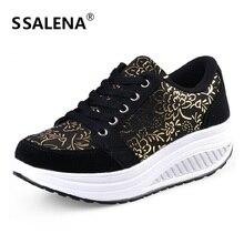 Женская Тонизирующая обувь, визуально увеличивающая рост, обувь для фитнеса, Женская дышащая обувь для похудения на платформе, спортивные кроссовки# B2482