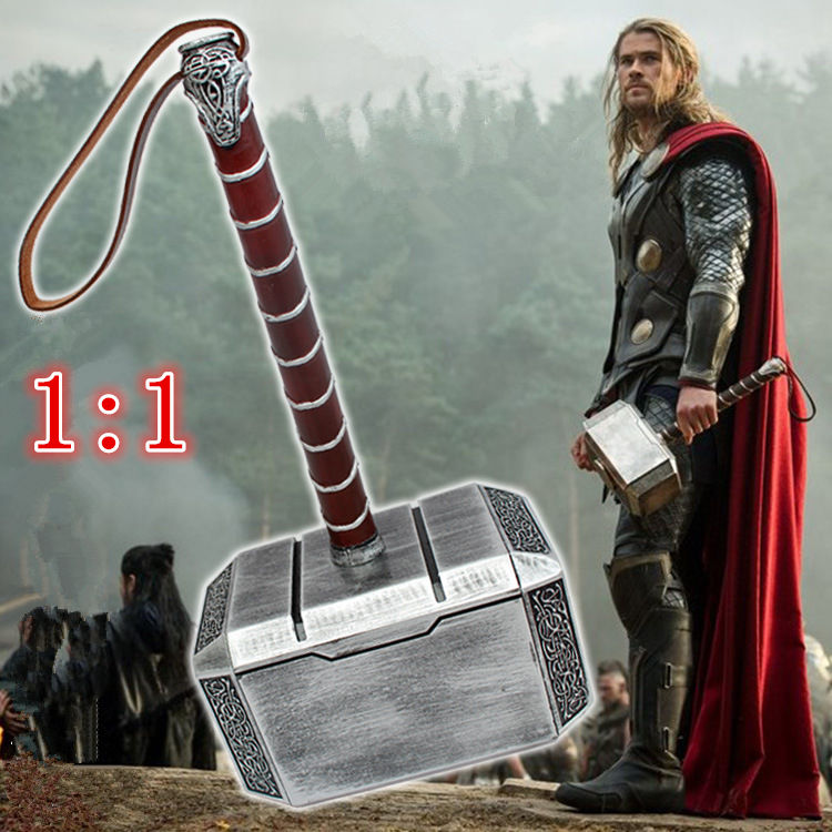 Collection Cosplay The Avengers Thor 1:1 simulation Resin hammer toy child adult costume party Thor hammer replica model toys high quality the avengers thor cosplay hammer thor s hammer action figure super hero collection toy ems free shipping