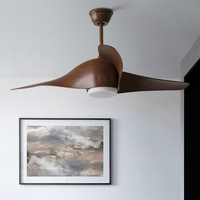 50 Inch Nordic Loft Living Room Ceiling Fan Light Creative Designer Dinner Cafe Led Fan Light Fixtures With Remote Control