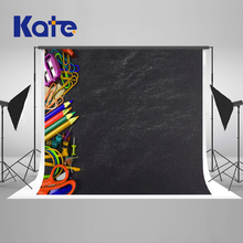 Kate 7x5ft / (2.2x1.5m) Back to School Photography Backdrop Blackboard Stationery Backgrounds  Microfiber Photographic backdrop