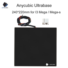 ANYCUBIC Ultrabase 3D Printer Platform With Heated Hotbed Build Surface Glass Plate 240x220mm Compatible For i3 Mega/Mega S