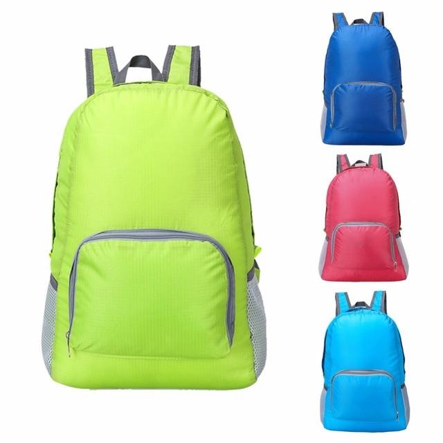 Lightweight Foldable Waterproof Nylon Women Men Skin Pack Backpack 20L Travel Outdoor Sports Camping Hiking Bag Rucksack 2017