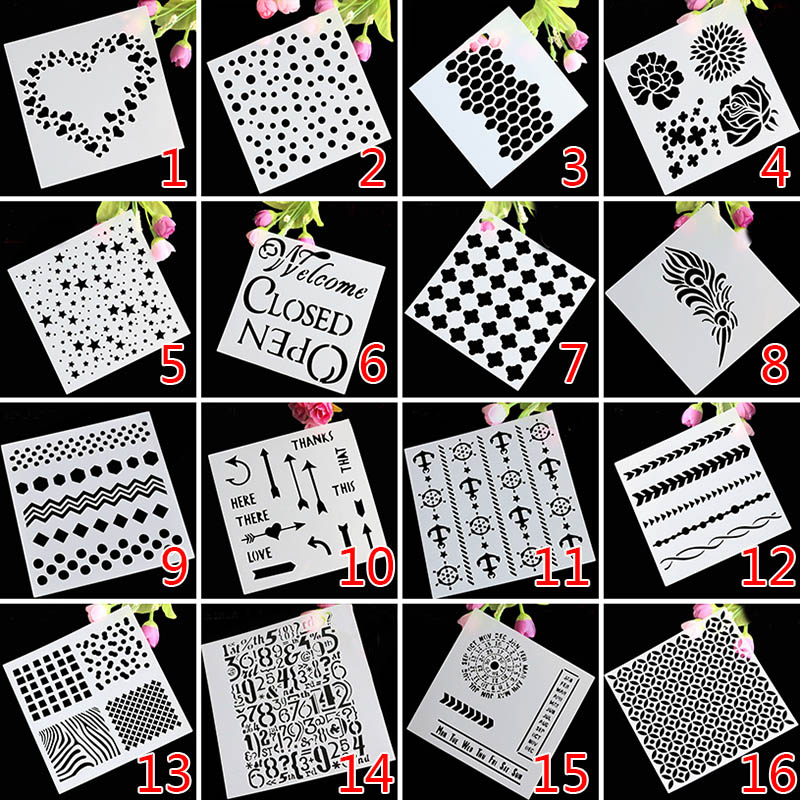 Newest Cake Decorating Tool Craft Cake Stencil Spray Art Cake Mold DIY Cake Moulds Baking Mold Bakeware Tools Free Shipping 1521