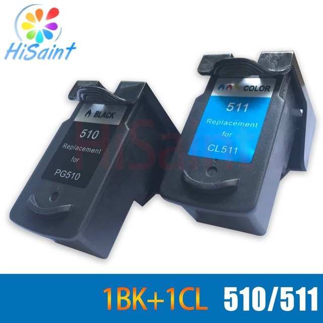 Hisaint Pg510 Cl511 For Canon Refill Ink Cartridge PG510 CL511 MP240 MP250 MP260 MP270