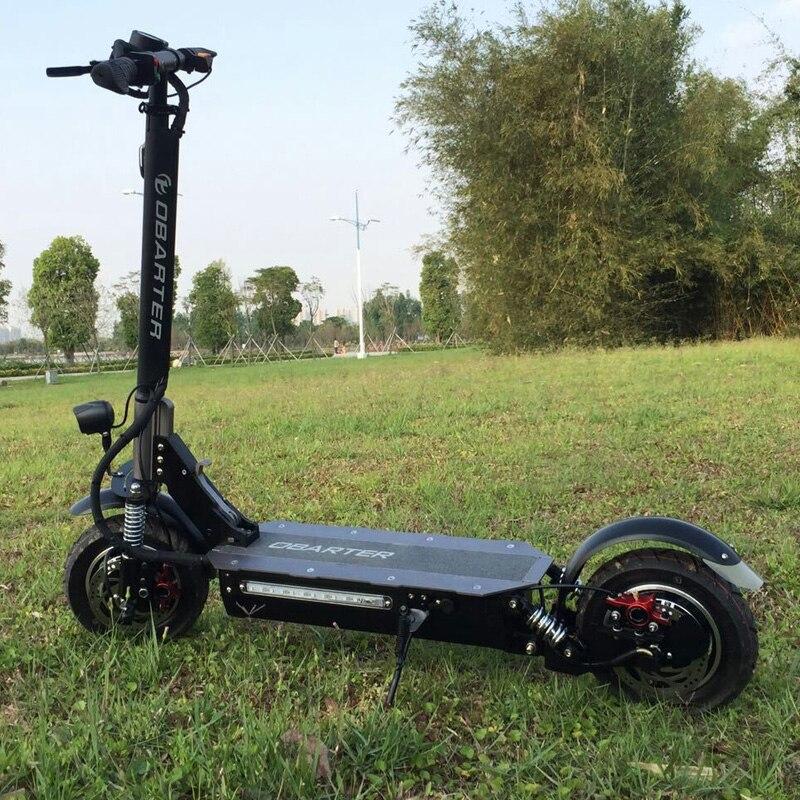 Prix pour 2017 Kwheel 60 V Double Lecteur Obarter 2000 moteur puissant scooter électrique Hydraulique de frein 10 pouce E-Scooter