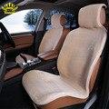 2 unid los coches delanteros cojín cape universal asiento de piel cubierta de Crema artificial-coloredcolor avtochehol 2016 ventas i078-2