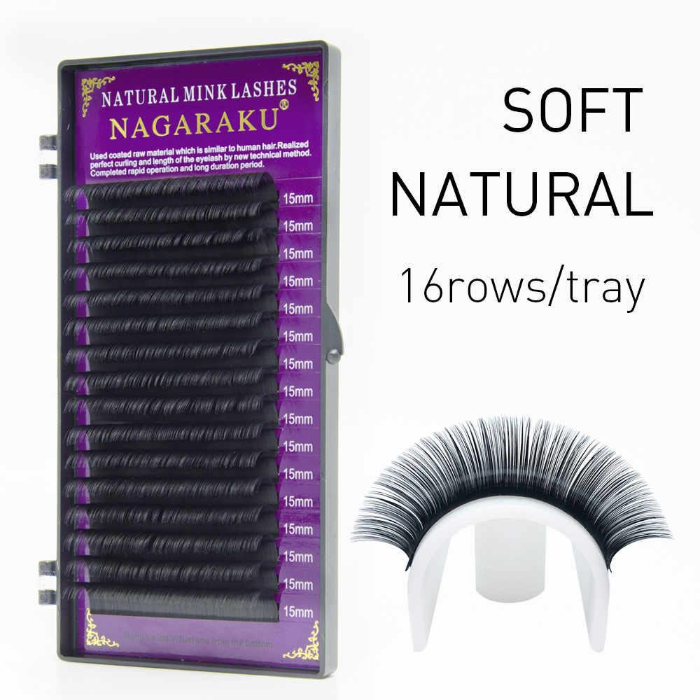 a646481ec48 ... NAGARAKU 50 case/lots eyelash extensions for grafting natural long  eyelashes with high quality of ...