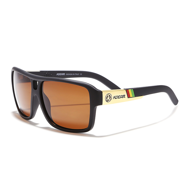 KDEAM Eyewear Goggles With Free Box Polarized Sunglasses Men Brand Driving Glasses Lunette De Soleil Zonnebril in Sports KD520-1