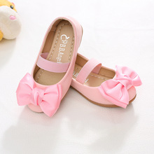 qloblo Summer Baby Girls party Leather shoses Kids Dress Shoes Designer Princess Shoes high quality with big bow for Spring(China)