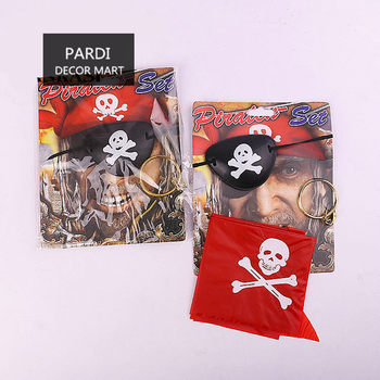 Juego de pirata de Halloween parche de pirata cabeza y pendiente disfraz  decoración de fiesta accesorios de halloween suministros de fiesta 1 pc lot c4f4b1f9fd2