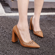 Fashion Sexy Pointed Toe Hollow Out Women Dress Shoes Black Brown Super High Heels Pumps