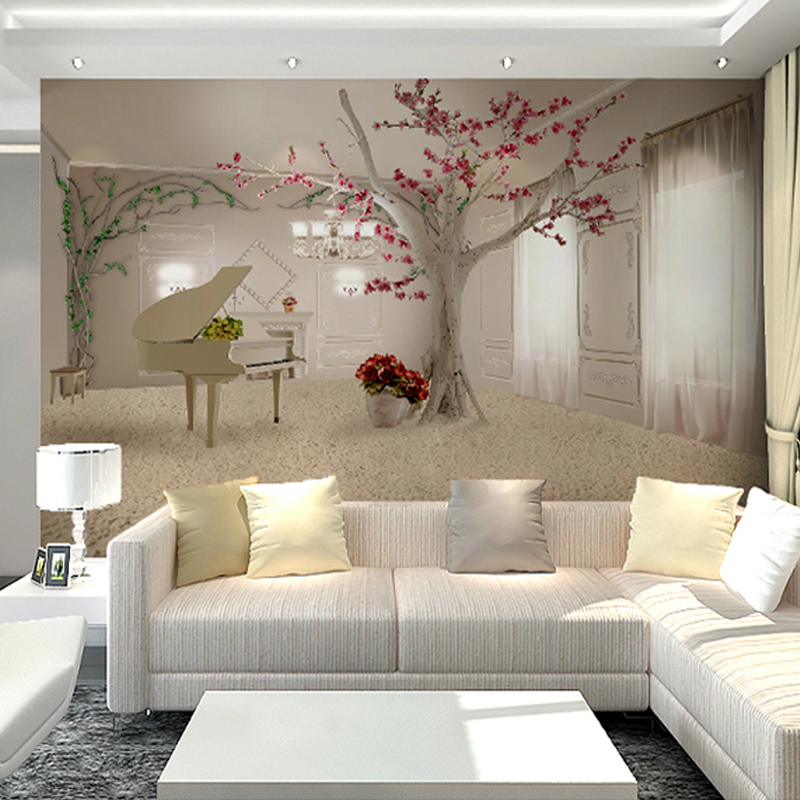 beautiful wall designs for living room aliexpress buy custom any size 3d wall murals 26560