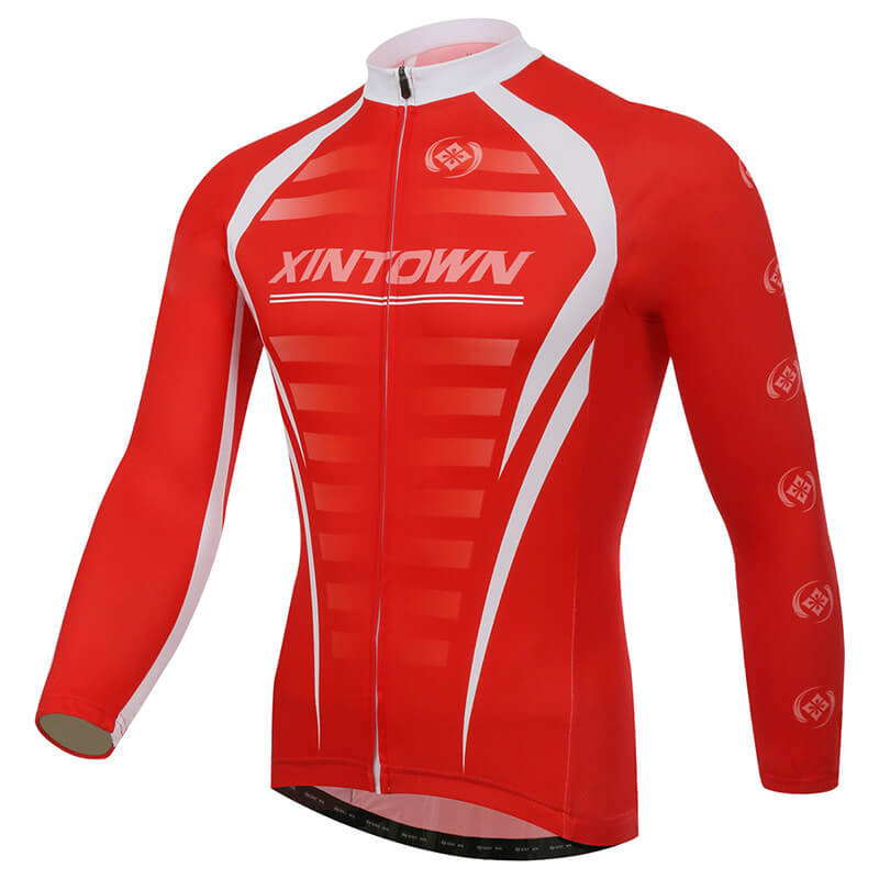 XINTOWN Cycling Jersey Bike Bicycle Long Sleeve Mountain MTB Jersey Clothing Shirts Spring Riding Jersey Cycling Long Sleeve