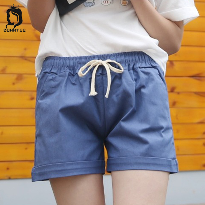Casual Women Shorts Womens Colorful Loose Short Female Drawstring Pockets Females Korean Style Daily School Students New Fashion