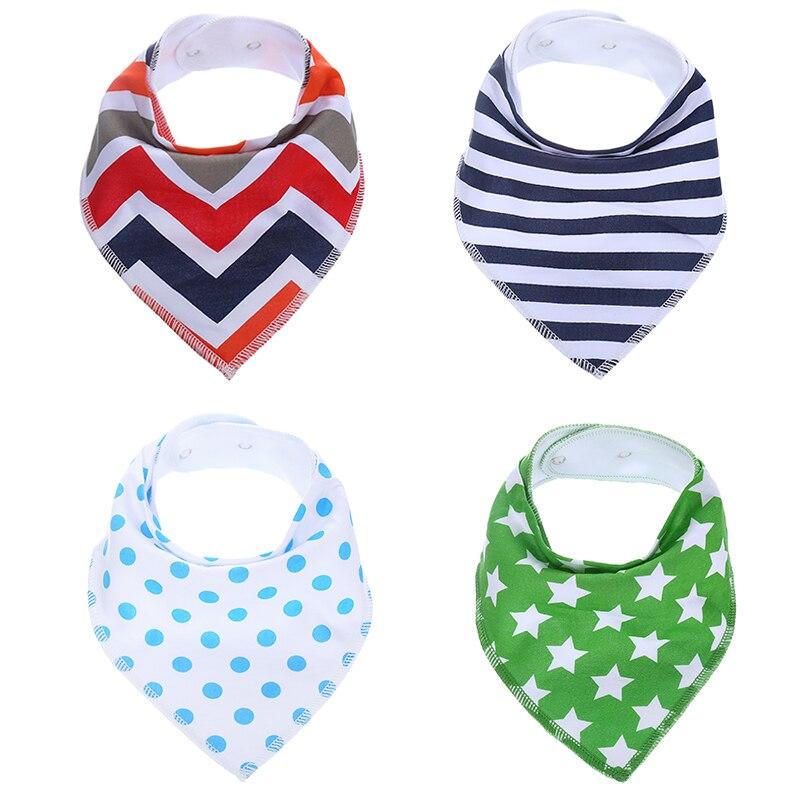 Mother & Kids Modest 4 Pcs/pack 0-24 Months Newborn Baby Bids 95% Cotton Cute Baby Boy Girl Toddler Infant Bibs Children Bibs Feeding Accessories