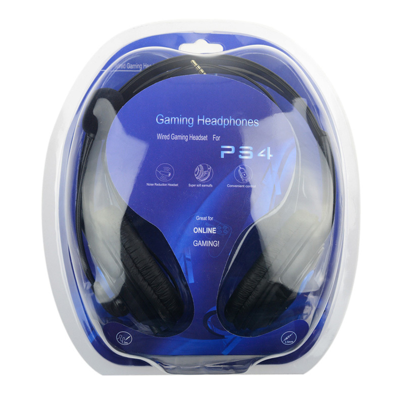 цена на Wired Gaming Headset Earphones Headphones with Microphone Mic Stereo Supper Bass for Sony PS4 for PlayStation 4 Gamers