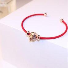 Китай зодиака Свинья браслет ювелирные изделия Милая разноцветная