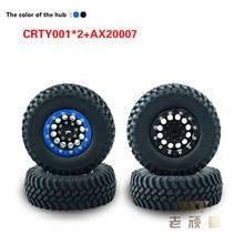 4 шт. 1/10 восхождение Модель автомобильных шин клей хорошо износостойкие изысканный шин 1.9 дюймов ступицы колеса crty001 * 2 + ax20007 для автомобиля rc