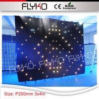 Dj اكسسوارات P200mm عالية الوضوح تايوان epistar المصابيح الفيديو الستار 3mtr * 4mtr dj مجموعة