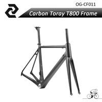 2017 Chinese Full Carbon Toray T800 Ud Road Frame Bike Racing Fiets Frameset Matte Di2 Bb30/bsa Maat 48/50/52/54/56/58/60 cm