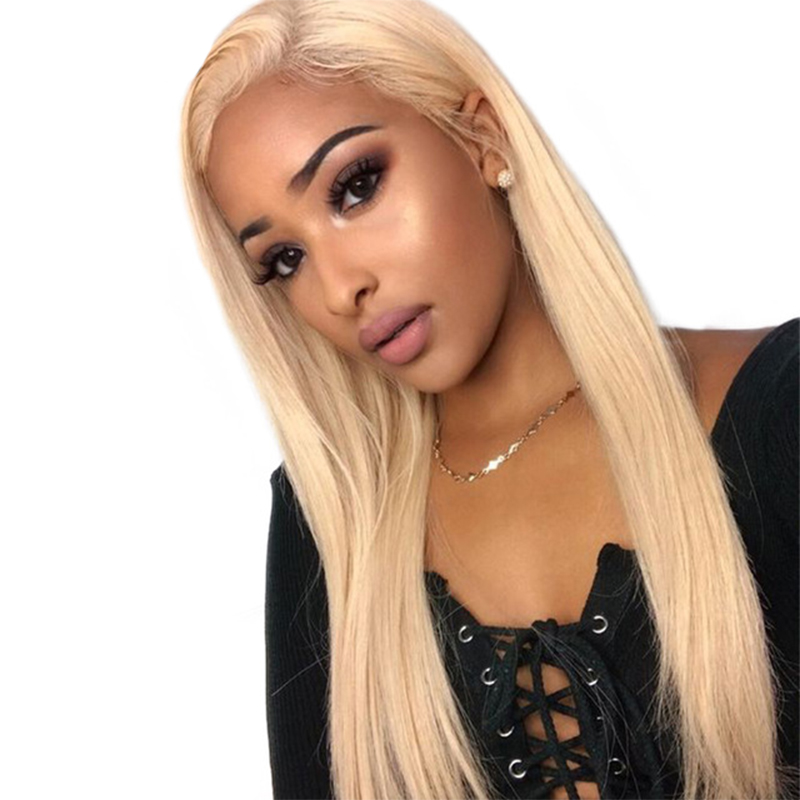613 Lace Front Human Hair Wigs Honey Blonde Straight 360 Lace Frontal Wig Brazilian Transparent Lace Wig Dolago Colorful Wig