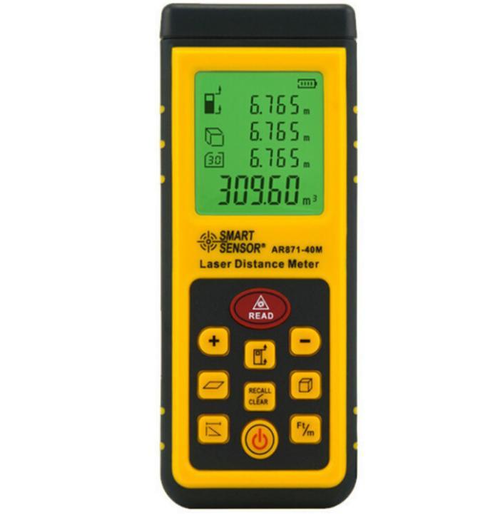 Laser Distance Meter AR871 Measurement Range 0.3-40m Accuracy 2mm 2 class Laser Rangefinder Range Laser Range Finder fast free ship usb ttl stc isp 51 scm phase serial port output laser range finder module 40m 2mm laser range sensor