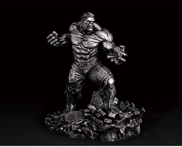 11inch Resin The Avengers Hulk Garage Kit GK Statue Gold / Silver Paint for Fans Collection and Holiday Gift cd billie holiday the centennial collection