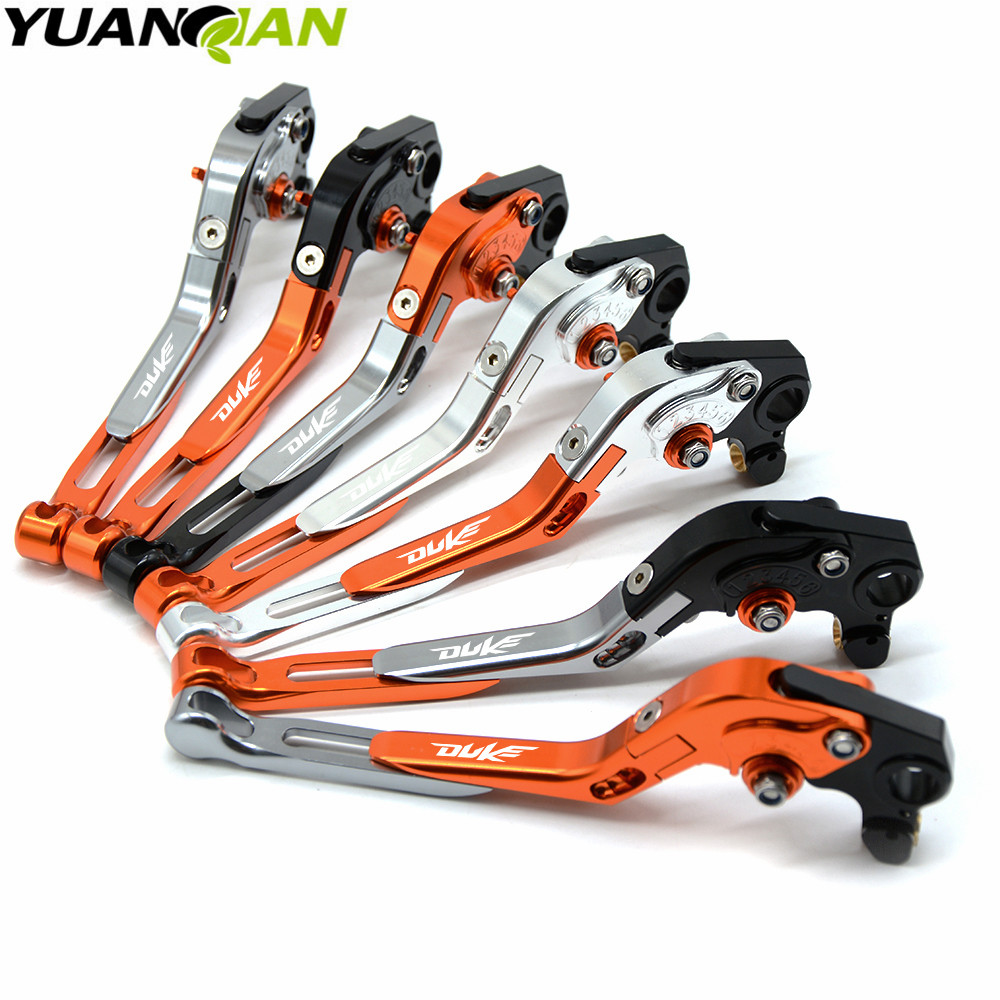 Orange & Black Motorcycle CNC Brakes Clutch Levers Fit For KTM Duke 125 200 390 DUKE RC 390 690 Duke R 2014 2015 2016 2017 for ktm logo 125 200 390 690 duke rc 200 390 motorcycle accessories cnc engine oil filter cover cap