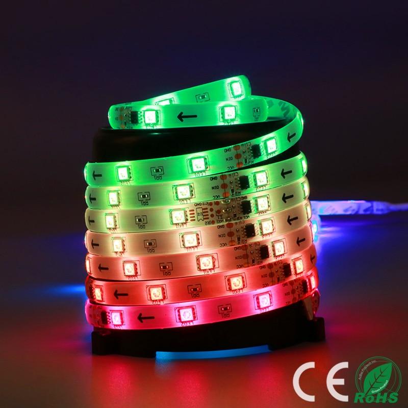 LED strip 5050 DC12V Flexible Light IP67Waterproof 30LED/m 5m/LotAdhesive Tape waterproof 90V-240V