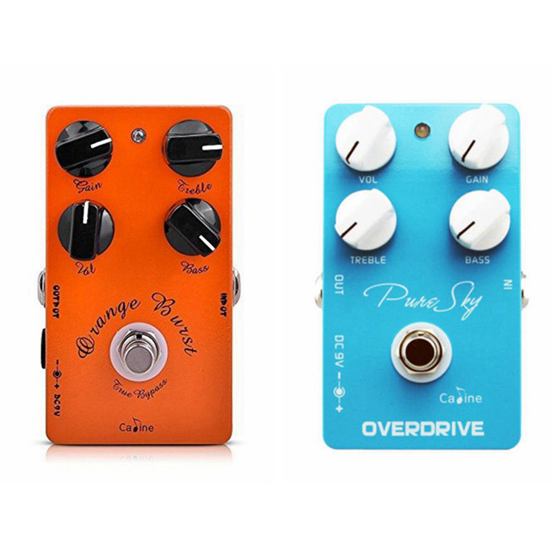 Caline CP-18 Amplifier Overdrive True Bypass Guitar Effect Pedal And CP-12 Pure Sky vintage Guitar pedal caline cp 29 guitar effect pedal mixing boost white heat true bypass design