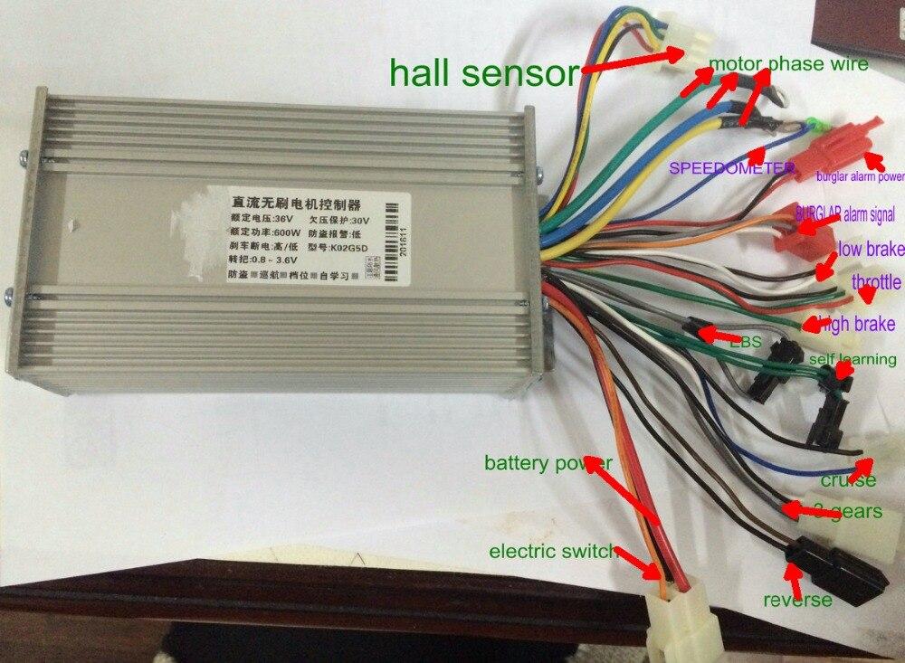 36v48v60v64v 500w600w BLDC motor controller 12 mosfet universal for electric font b scooter b font ebike