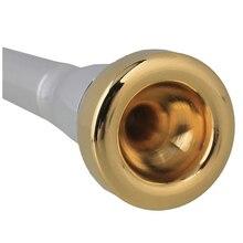 Popular Silver Trumpet Mouthpiece  Convertible 2a 2b 3a 3b & 2 Trumpet Heads