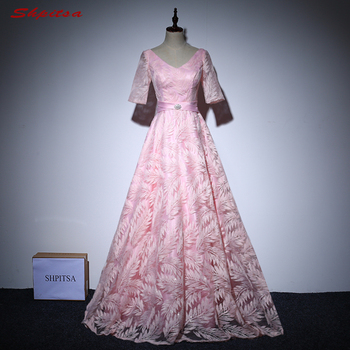 Pink Mother of the Bride Dresses for Weddings Beaded A Line Evening Gowns Groom Godmother Dresses