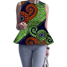 Women dashiki tops sleeveless African shirt personal custom african clothes fashion print festival party/weding Africa clothing