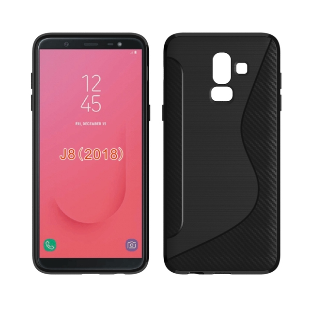 info for dd4e9 eb920 US $1.99 |For Samsung Galaxy J8 2018 On8 Soft Case S Line Carbon Fiber  Drawing Silicone Flexible TPU Cover for Samsung J8 J810 Funda Cases-in  Fitted ...