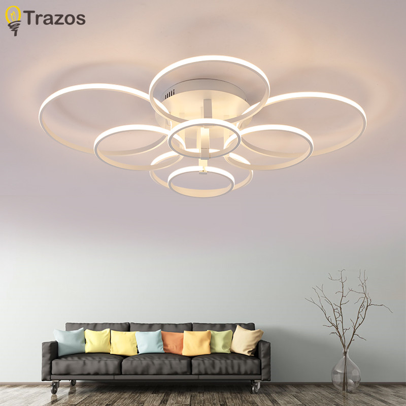 New Style Acrylic Ceiling Lamp Creative Art circular LED Ceiling Lights for Dinning Room Living Room Bedroom Indoor Lighting chinese style wooden led circular ceiling lamps real wood art acrylic bedroom study decorated living room ceiling lights za zs45
